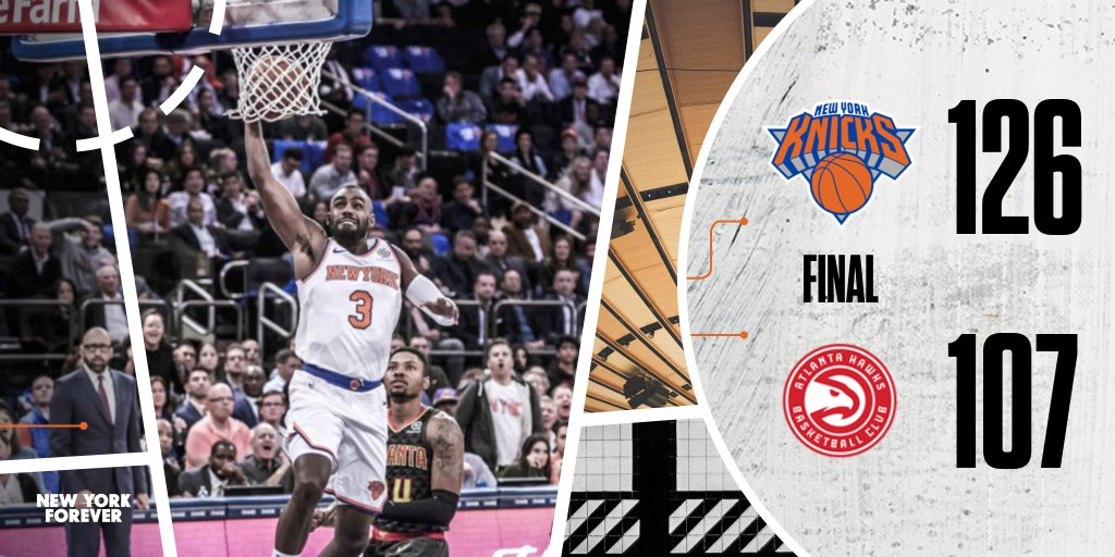 New York Knicks Demolish Hawks In Season Opener