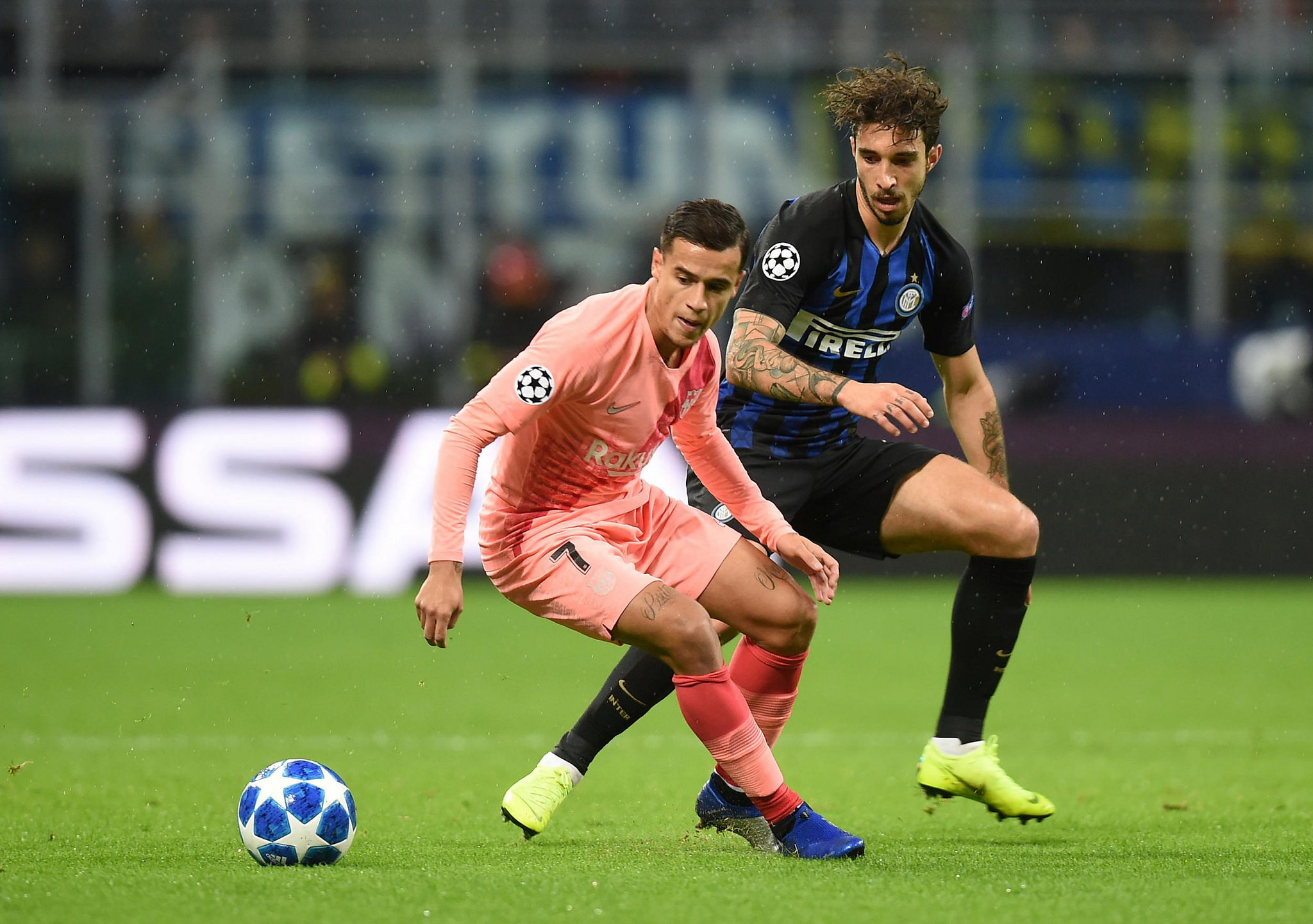 Inter And Barcelona Play Out 1-1 Draw