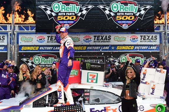 Denny Hamlin Wins at Texas After Multiple Penalties