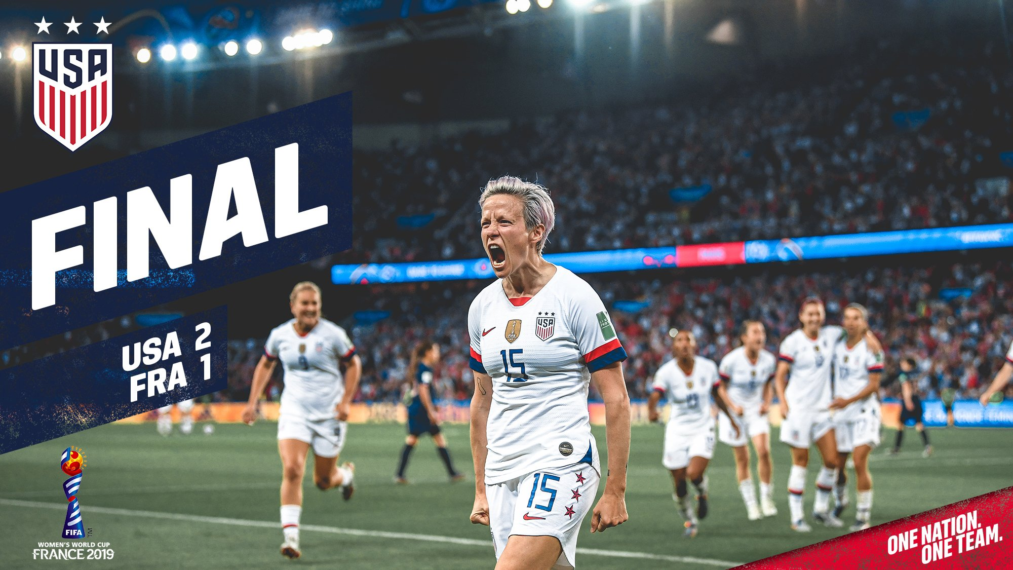 Rapinoe Double Helps USA Reach The Semi-Finals