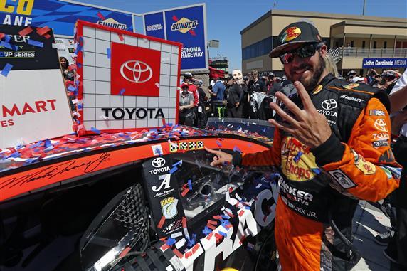 Truex Leads Toyota Run of the Show in Sonoma