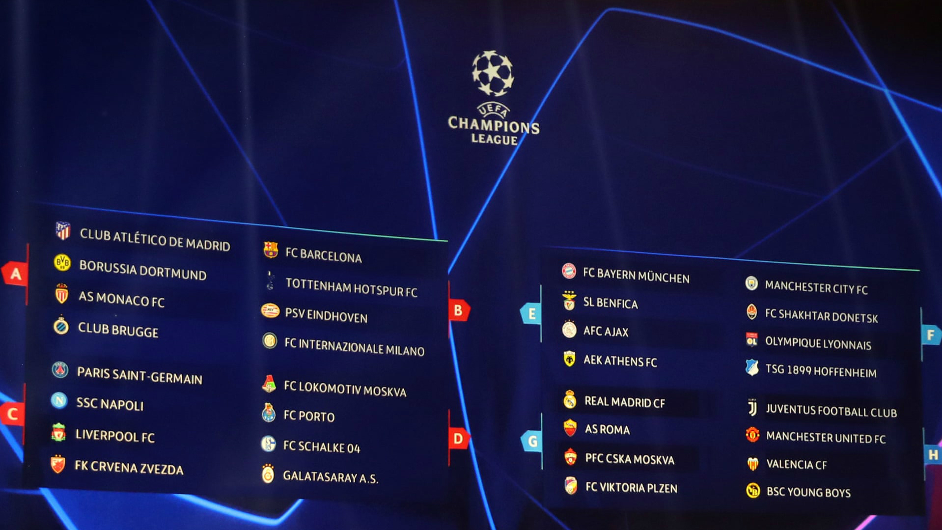 UCL Group Stage Draw: Everything You Need To Know - TSJ101