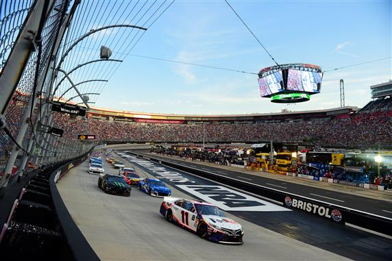 Denny Hamlin Delivers Another Win at Bristol Night Race