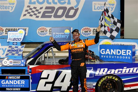 Elliott Beats Busch for Truck Series Bounty at Charlotte