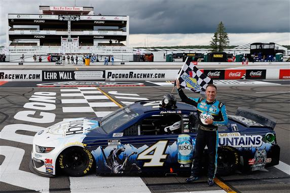 Kevin Harvick Wins His First Career Cup Series Race At Pocono