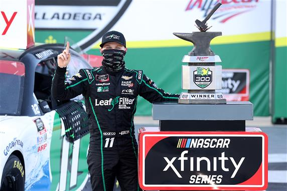Haley Wins Third Consecutive Superspeedway Race