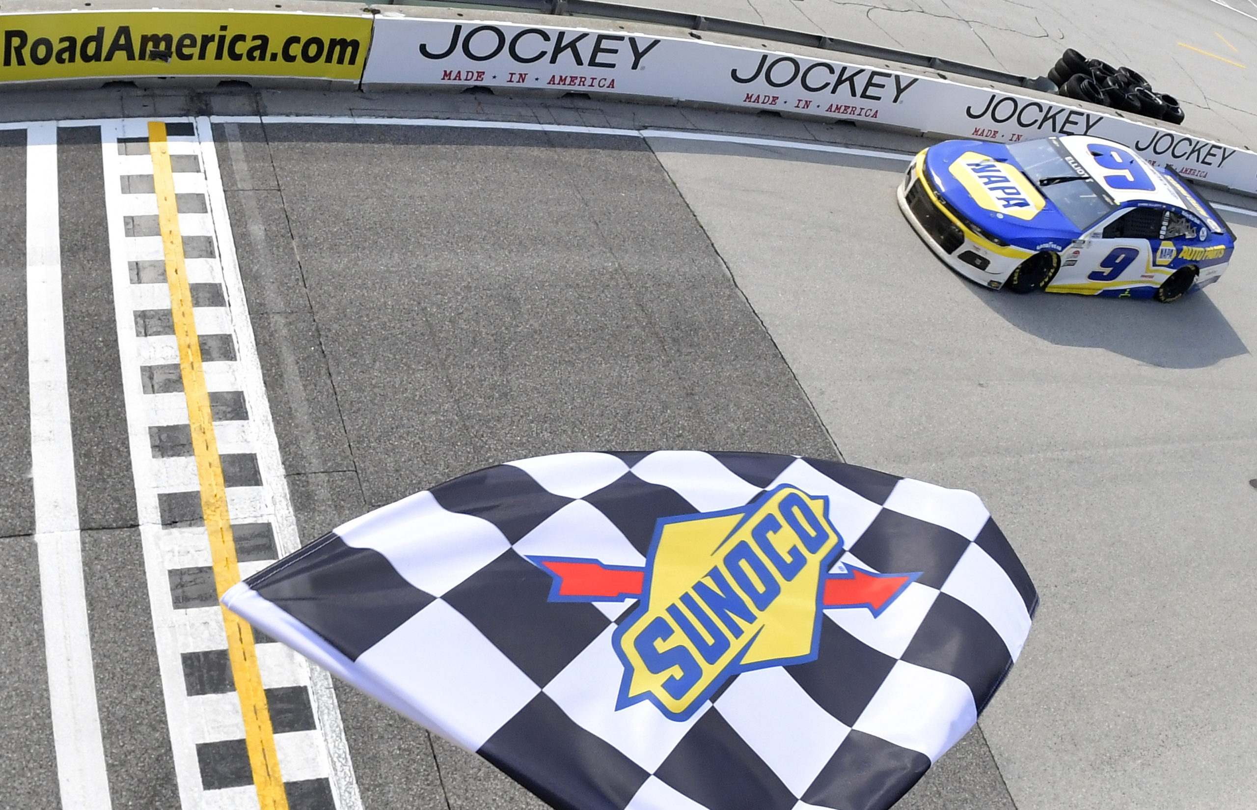 Chase Elliott Celebrates July 4th with Road America Win